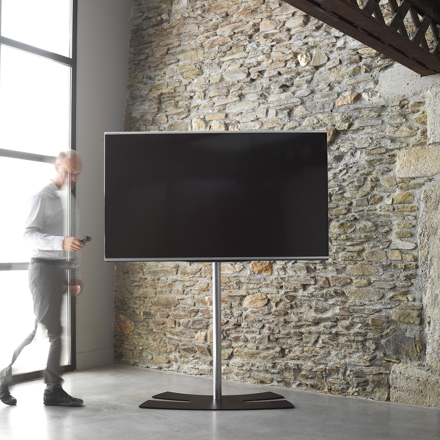 Erard lux up 1600xl blanc support mural tv erard group sur - Bras telescopique tv ...