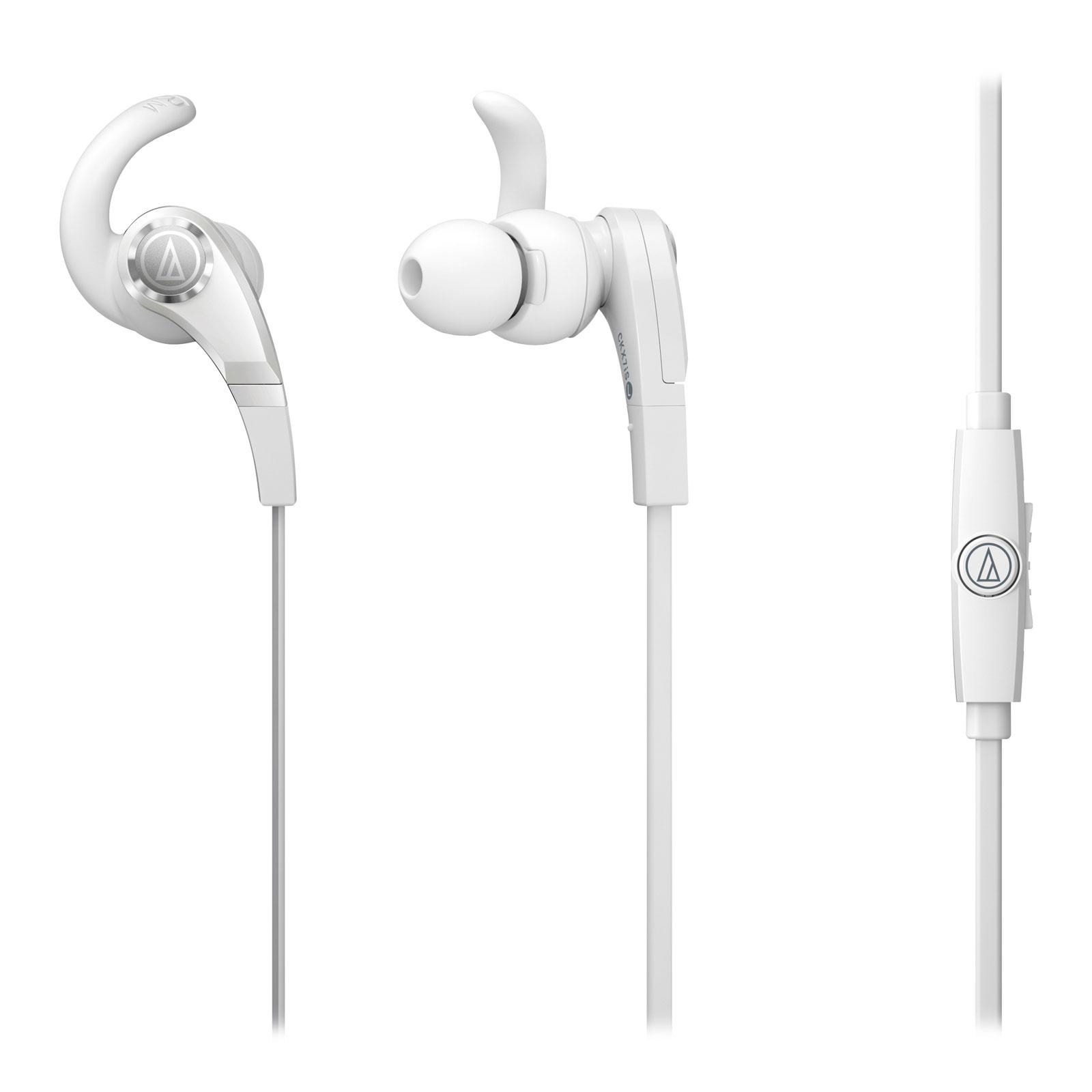 Casque Audio-Technica ATH-CKX7IS Blanc  Écouteurs intra-auriculaires avec télécommande et micro