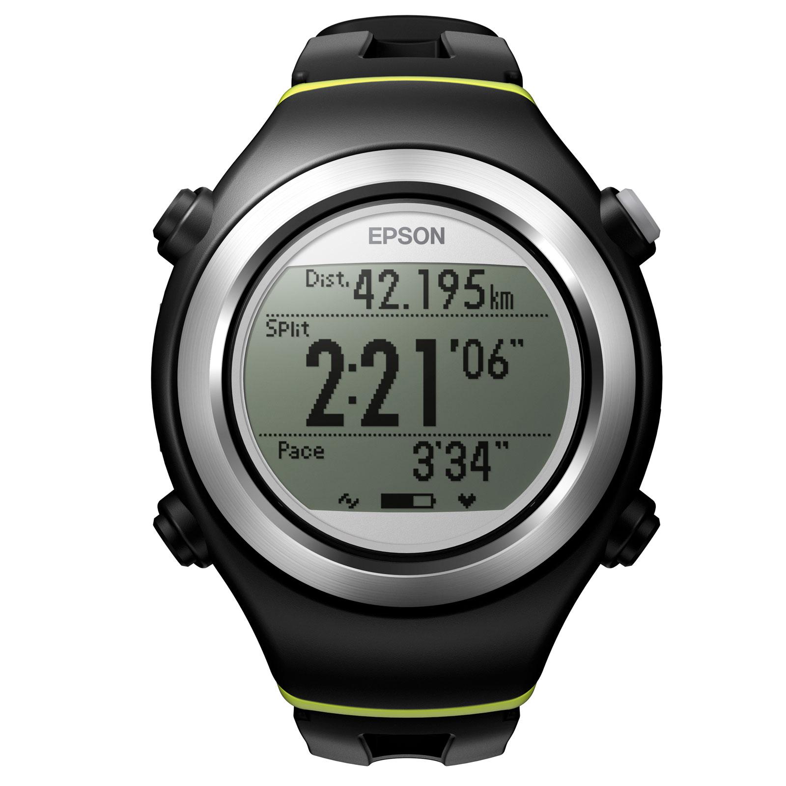 Montre running Epson Runsense SF-310 Noir Montre GPS running étanche