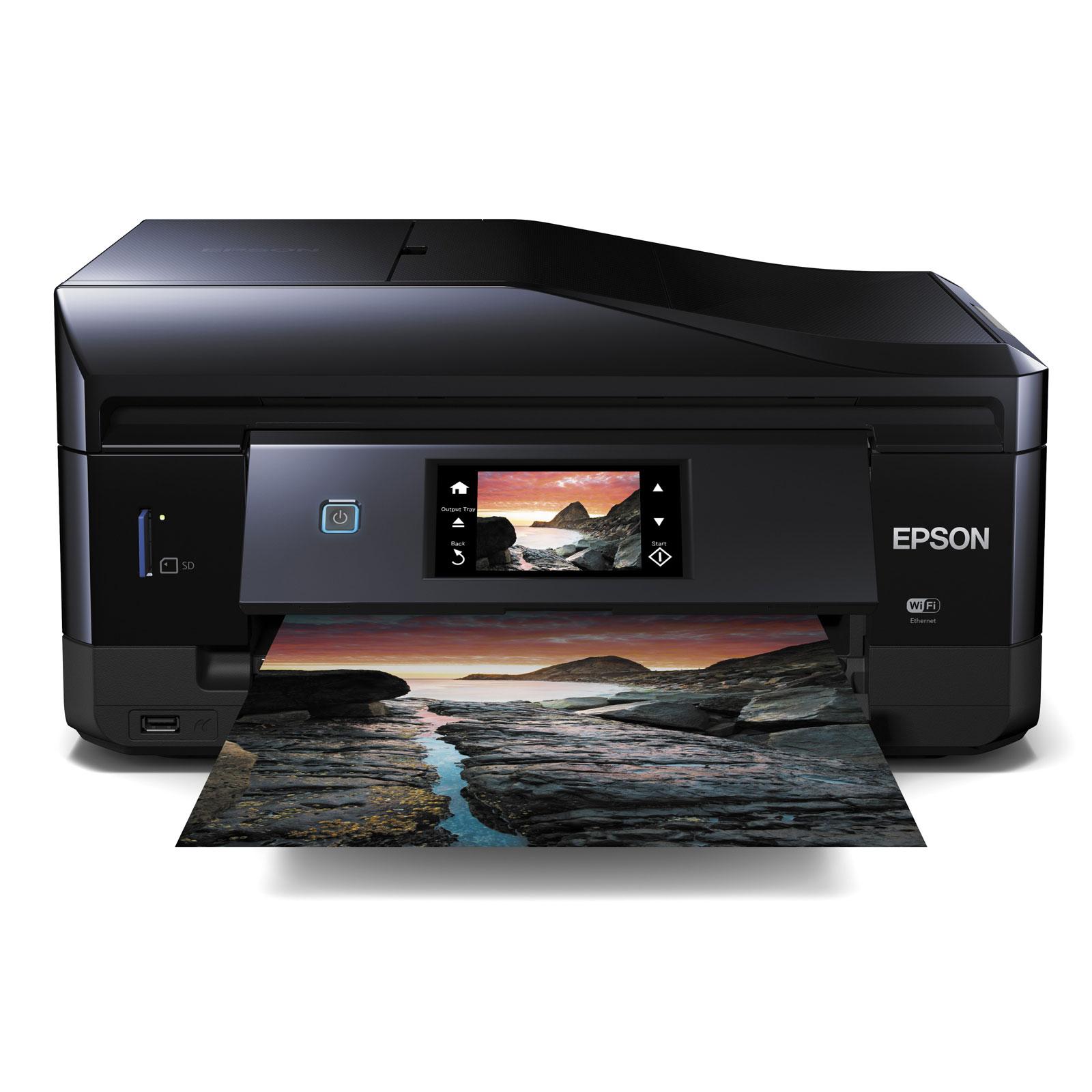Imprimante multifonction Epson Expression Photo XP-860 Imprimante Multifonction jet d'encre 4-en-1 compatible Airprint et Cloud Print (USB / Wi-Fi N / Ethernet )