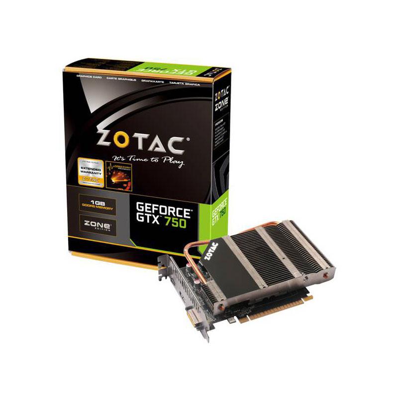 Carte graphique Zotac GeForce GTX 750 ZONE Edition 1024 Mo DVI/HDMI/DisplayPort - PCI Express (NVIDIA GeForce avec CUDA GTX 750)