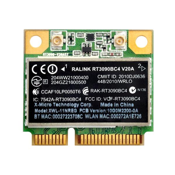 Carte réseau Silverstone ECW01 Carte Mini-PCI-Express WIFi 802.11 b/g/n + Bluetooth 3.0
