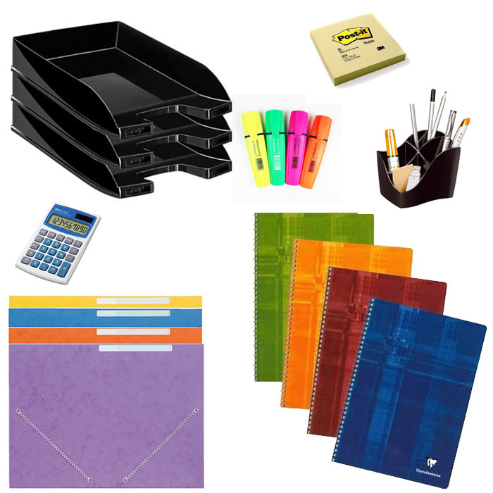 Starter kit papeterie kits papeterie g n rique sur for Papeterie bureau plus
