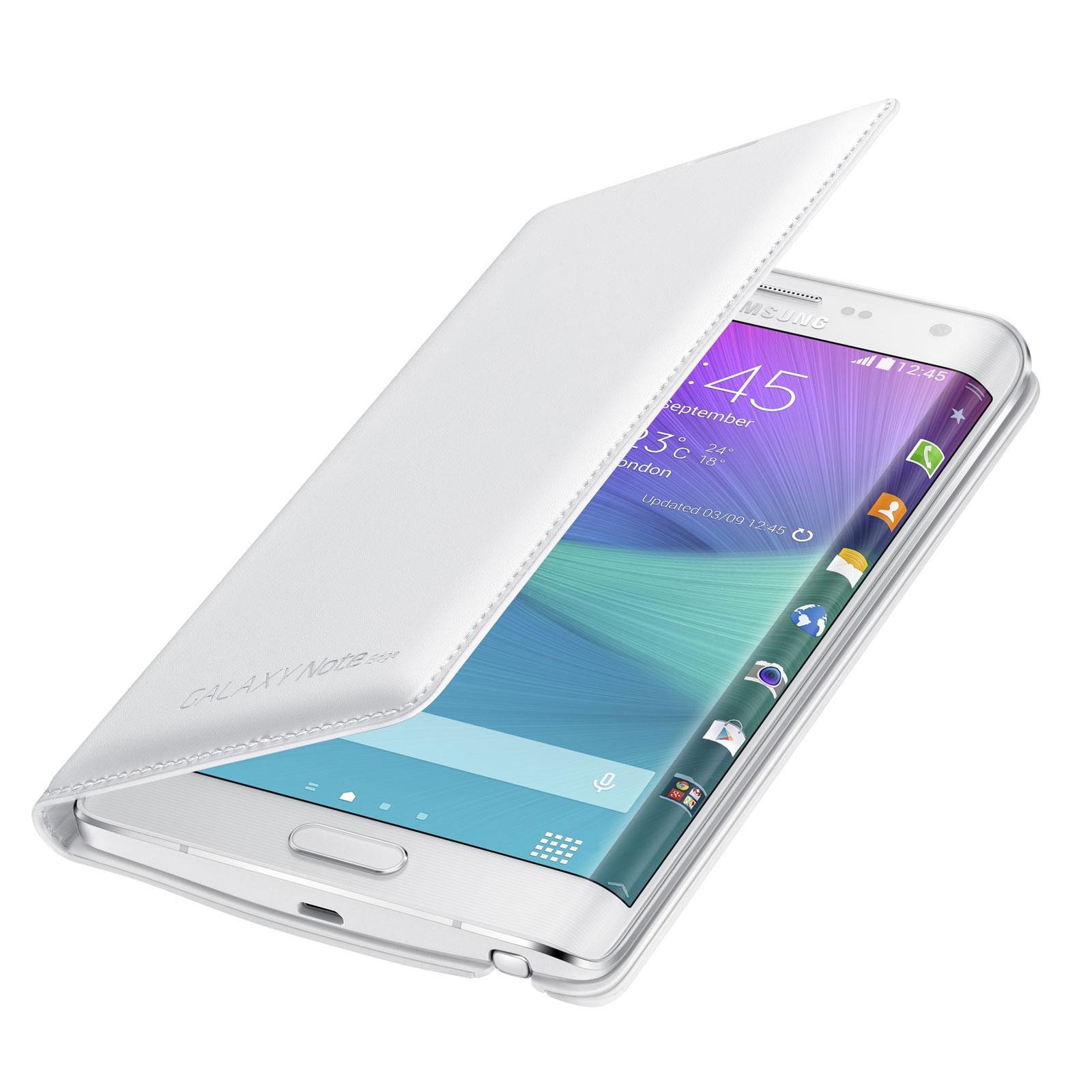 samsung flip wallet blanc samsung galaxy note edge etui t l phone samsung sur. Black Bedroom Furniture Sets. Home Design Ideas