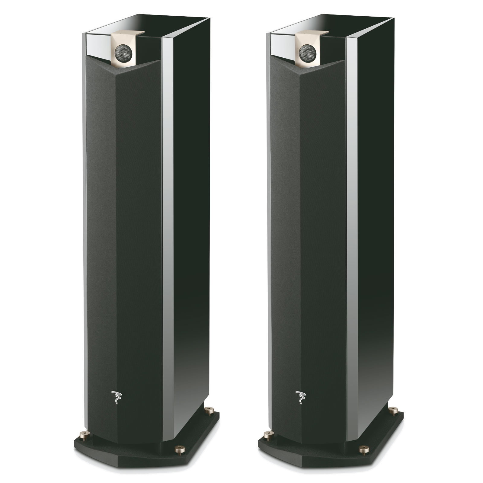 focal chorus 816 v black high gloss par paire. Black Bedroom Furniture Sets. Home Design Ideas