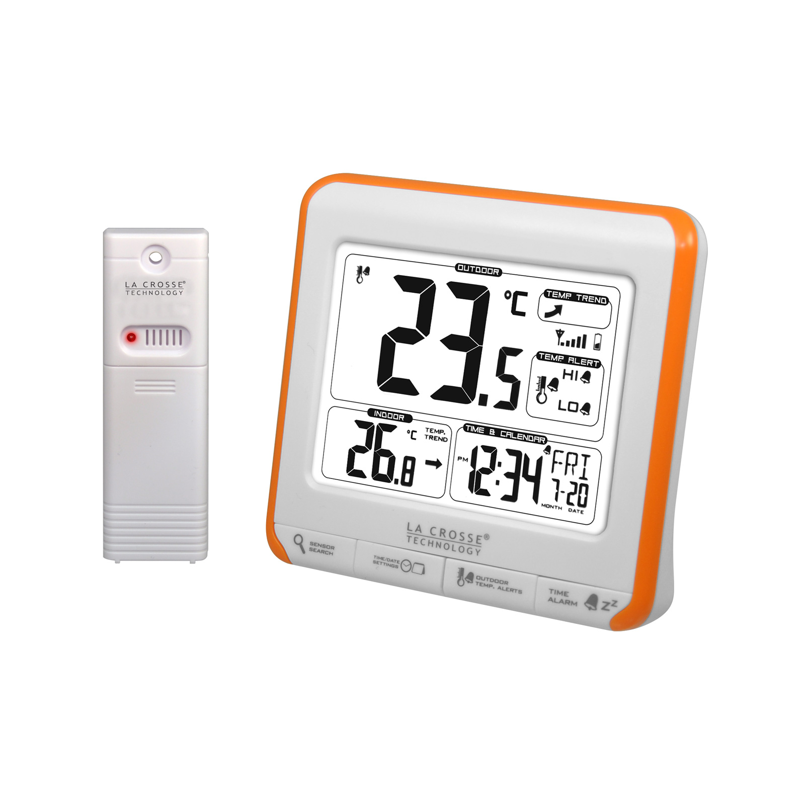 La crosse technology ws6811 orange station m t o la for Station meteo avec capteur exterieur sans fil