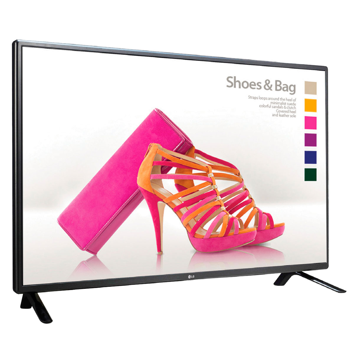Ecran dynamique LG 47LS33A  Moniteur LED Full HD 1920 x 1080 pixels - 11 ms - Format large 16:9 - IPS - 300cd/m² - Bord fin 13.3mm - Noir (sans pieds)