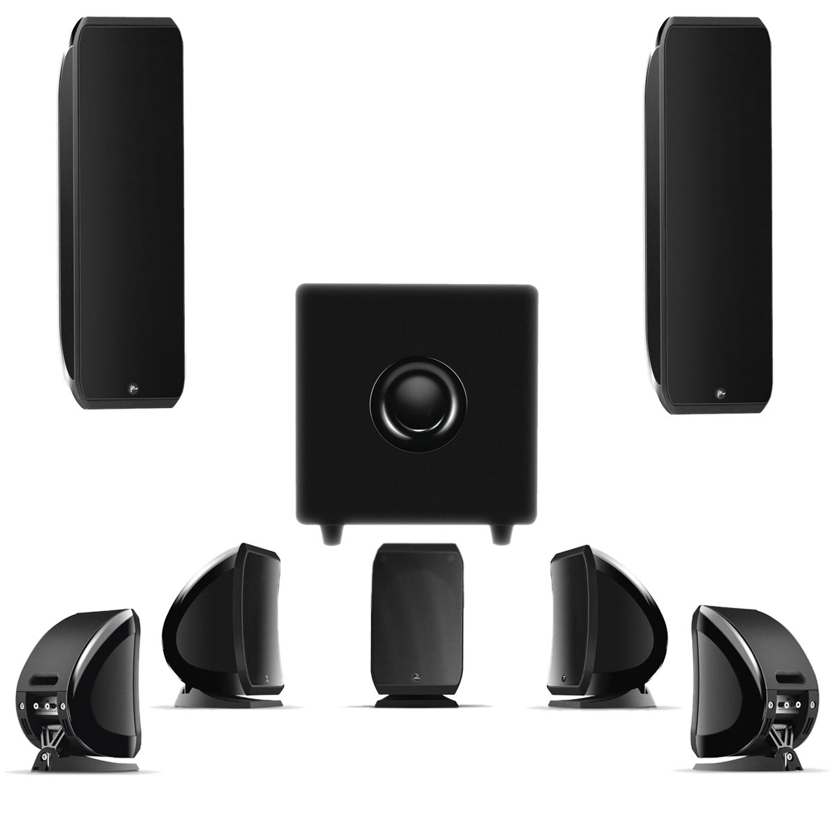 focal pack 7 1 sib xl sib cub 3 jet black enceintes hifi focal sur. Black Bedroom Furniture Sets. Home Design Ideas