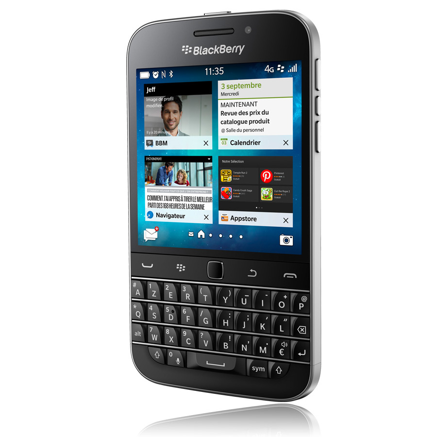Blackberry classic azerty noir mobile smartphone for Photo ecran blackberry