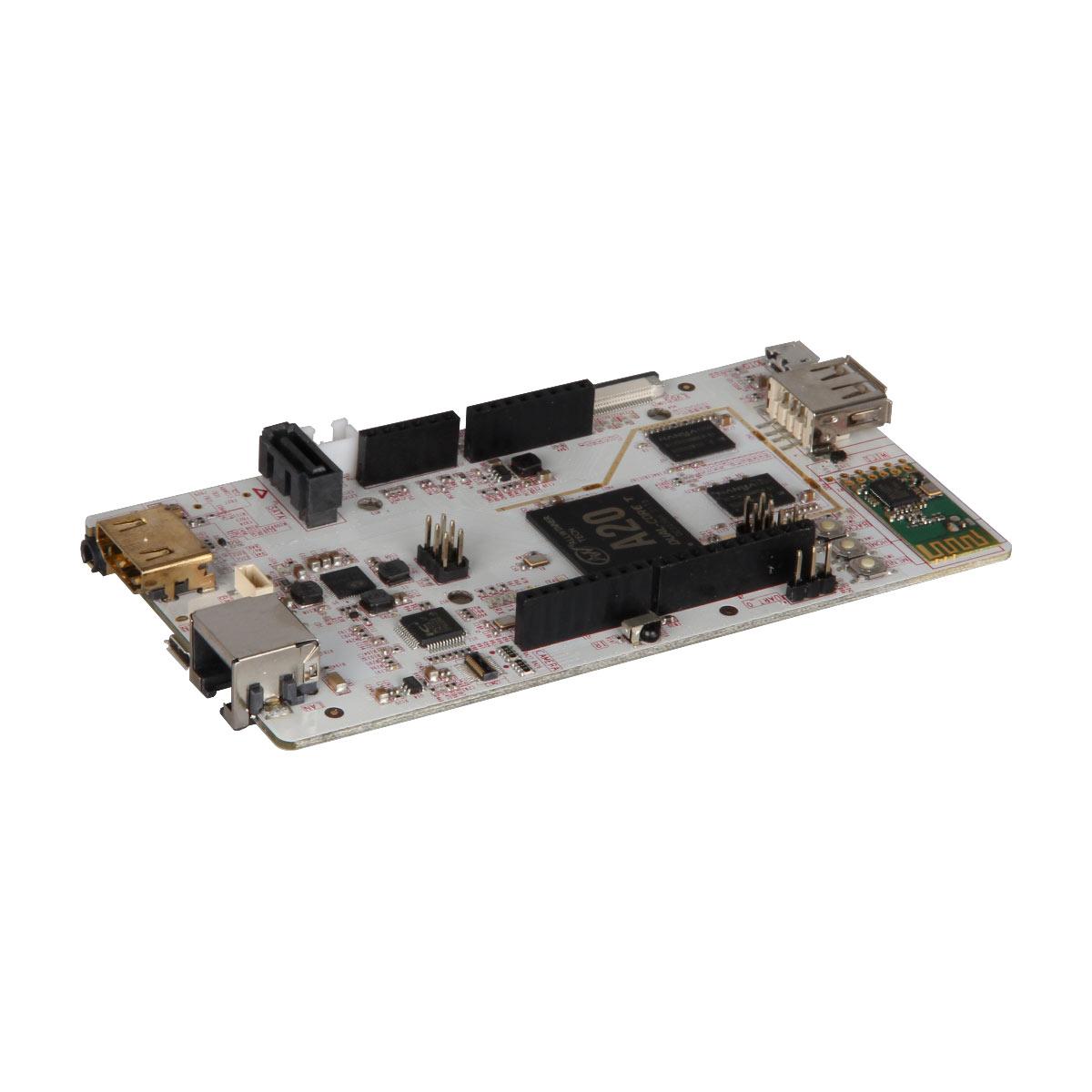 Carte mère LinkSprite pcDuino3B Carte mère avec UBUNTU 12.04 - ARM Cortex A7 Dual-Core 1 GHz - RAM 1024 Mo - GPU ARM Mali 400 - 10/100/1000 - HDMI - USB