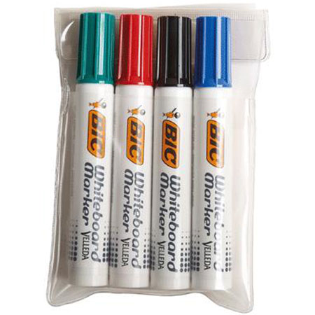 bic velleda whiteboard marker 1781 4 assortis marqueur bic sur. Black Bedroom Furniture Sets. Home Design Ideas