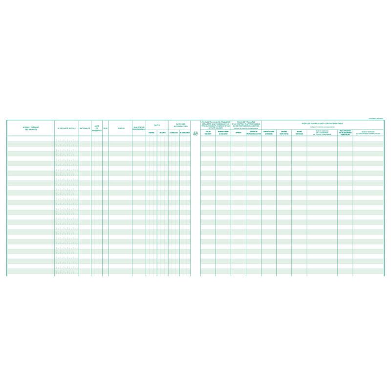 Exacompta Registre Unique Du Personnel 40 Pages Registre