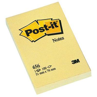 Bloc repositionnable Post-it Bloc 100 feuillets 51 x 76 mm Jaune Bloc de 100 feuillets 51 x 76 mm