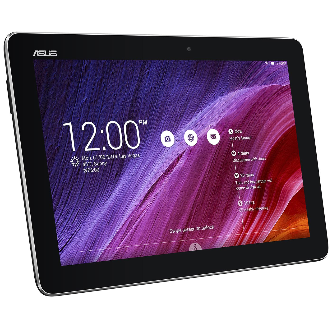 asus memo pad 10 me103k 6a004a noir tablette tactile. Black Bedroom Furniture Sets. Home Design Ideas