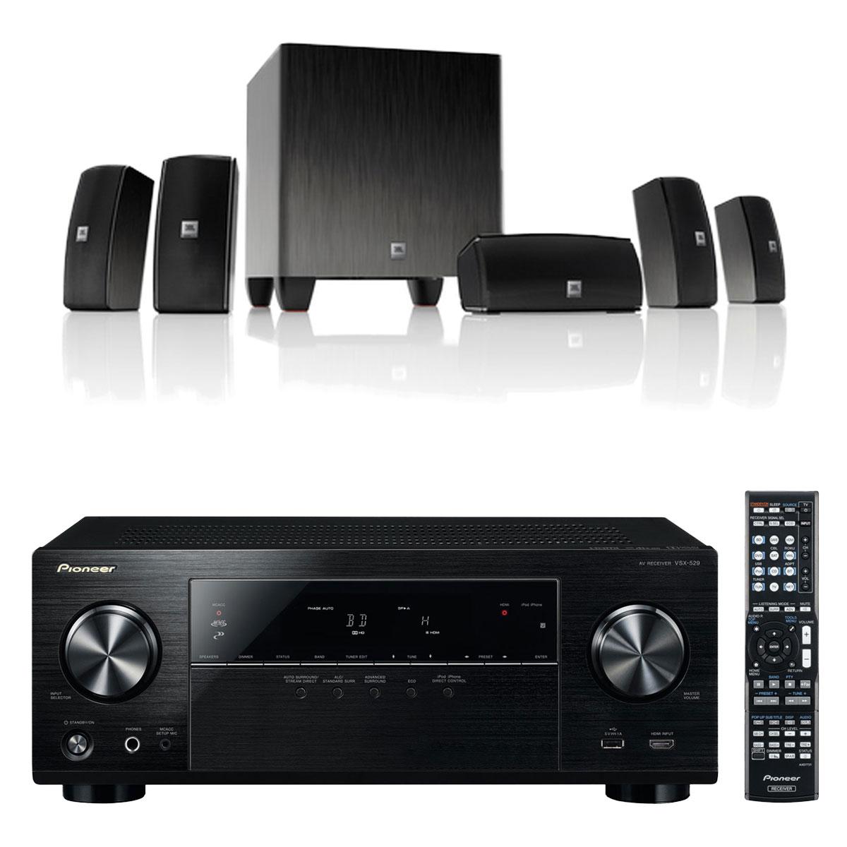 pioneer vsx 529 k jbl cinema 610 ensemble home cin ma pioneer sur. Black Bedroom Furniture Sets. Home Design Ideas