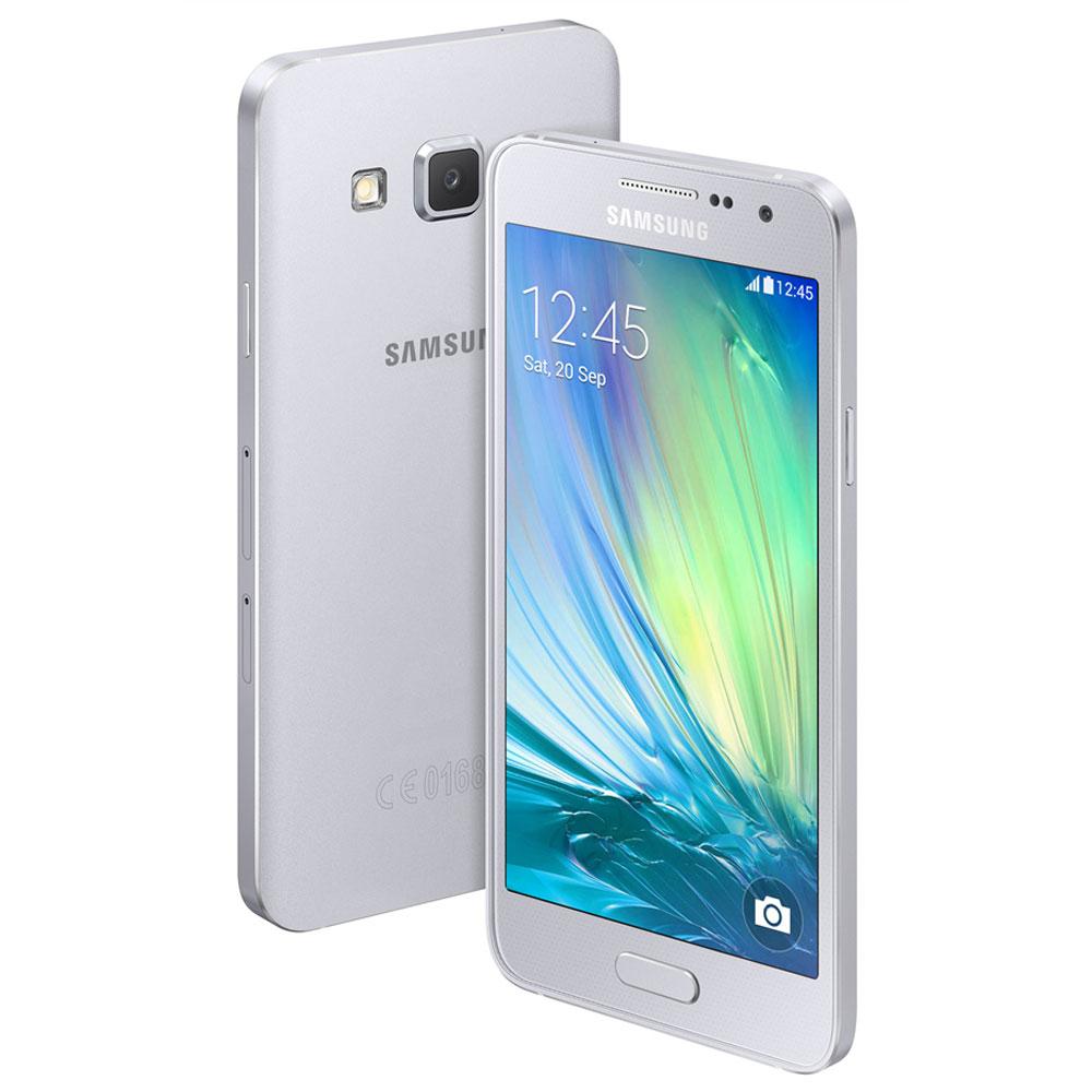 Samsung galaxy a3 argent mobile smartphone samsung sur for Photo ecran galaxy a3