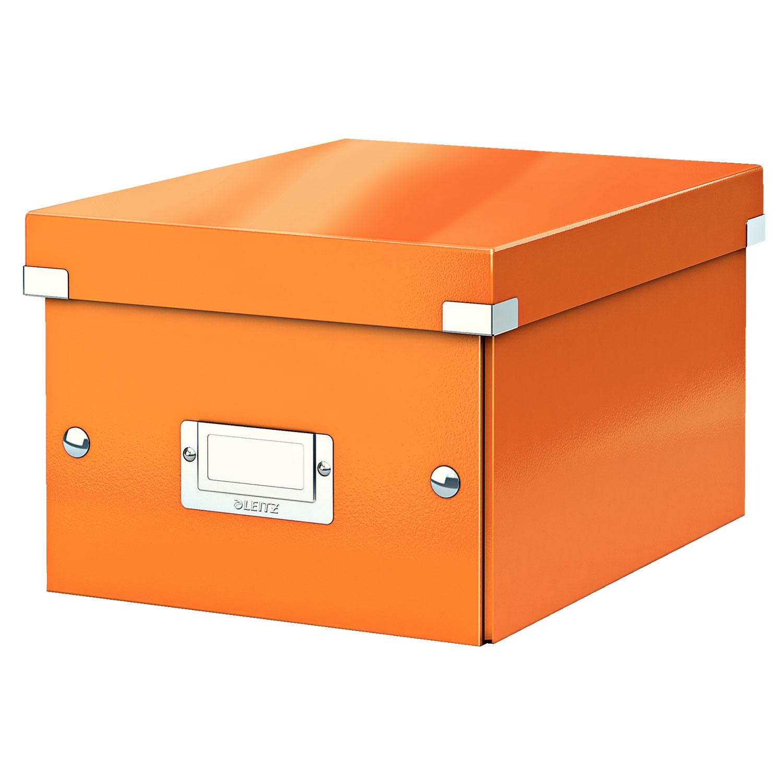 leitz click store boite de rangement petit format 7 4 litres orange bo te de rangement leitz. Black Bedroom Furniture Sets. Home Design Ideas