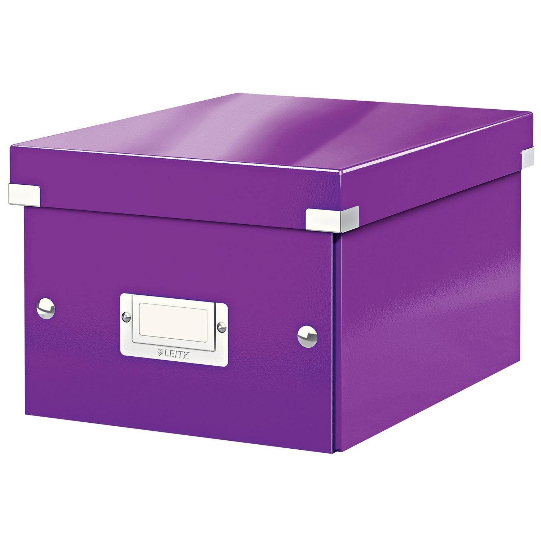 leitz click store boite de rangement petit format 7 4 litres violet bo te de rangement leitz. Black Bedroom Furniture Sets. Home Design Ideas