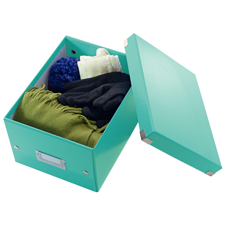 leitz click store boite de rangement petit format 7 4 litres menthe bo te de rangement leitz. Black Bedroom Furniture Sets. Home Design Ideas