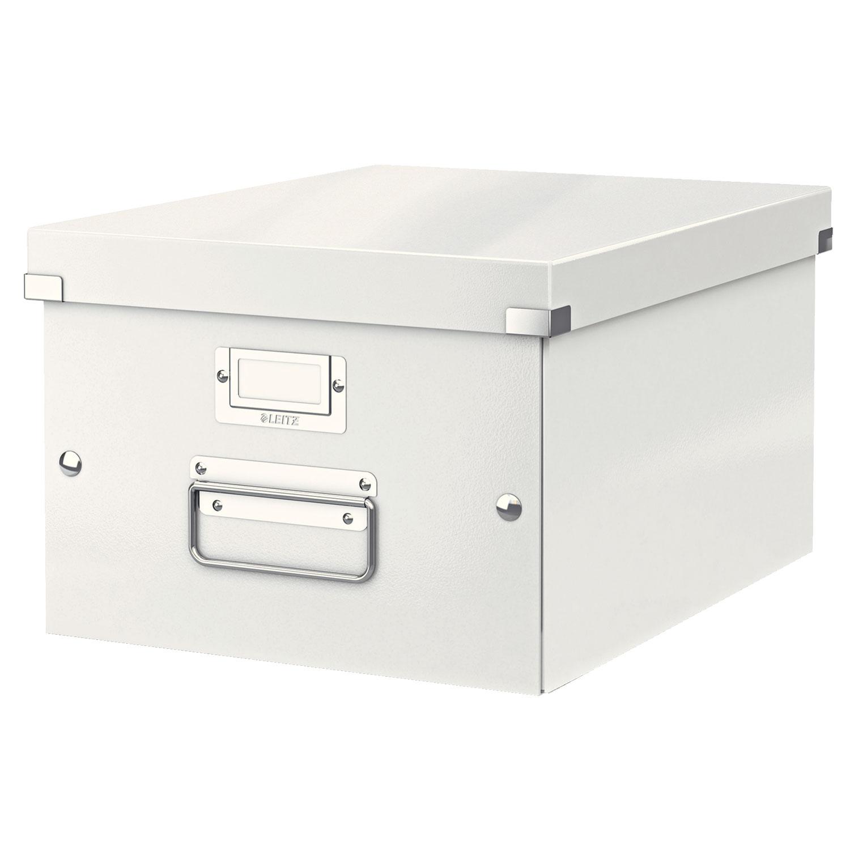 leitz click store boite de rangement moyen format 16 7 litres blanc bo te de rangement leitz. Black Bedroom Furniture Sets. Home Design Ideas