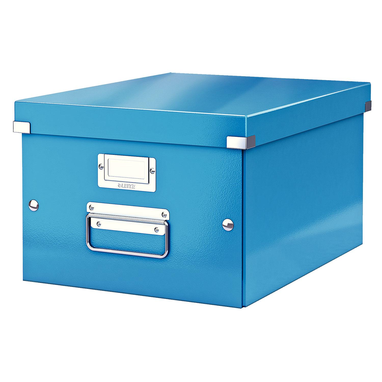 leitz click store boite de rangement moyen format 16 7 litres bleu bo te de rangement leitz. Black Bedroom Furniture Sets. Home Design Ideas