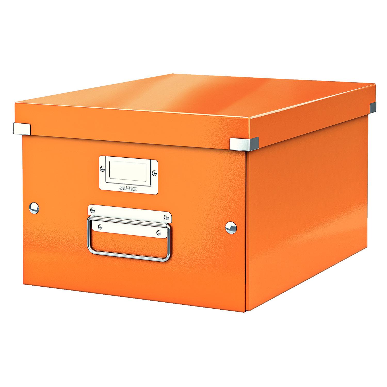leitz click store boite de rangement moyen format 16 7 litres orange bo te de rangement. Black Bedroom Furniture Sets. Home Design Ideas