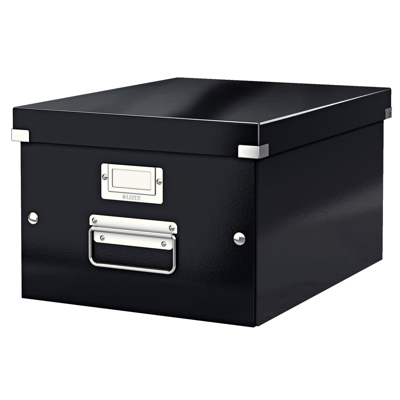 Leitz Click & Store boite de rangement moyen format 16.7 litres Noir - Boîte de rangement LEITZ ...