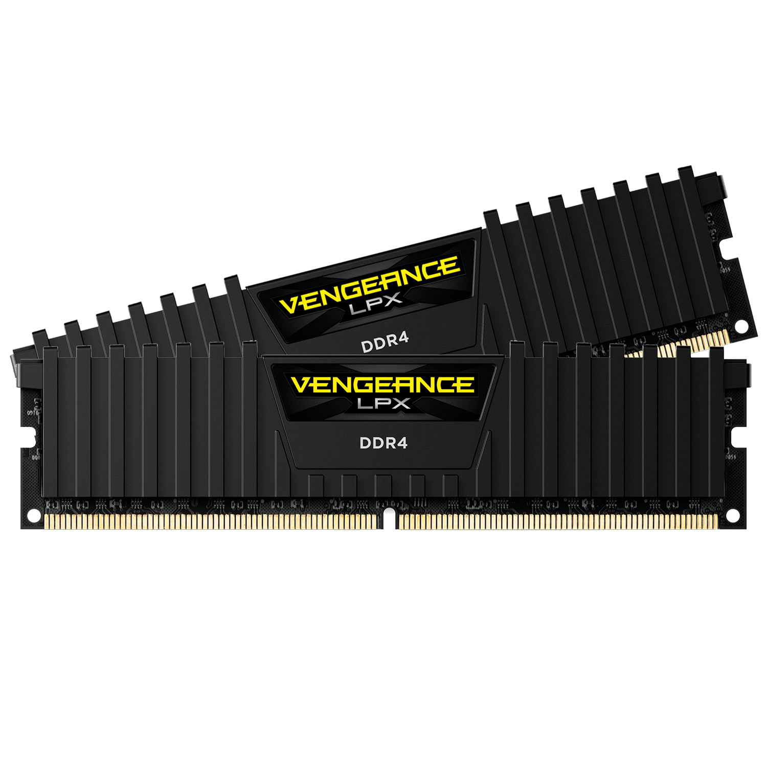 Mémoire PC Corsair Vengeance LPX Series Low Profile 16 Go (2x 8 Go) DDR4 2666 MHz CL16 Kit Dual Channel 2 barrettes de RAM DDR4 PC4-21300 - CMK16GX4M2A2666C16 (garantie à vie par Corsair)