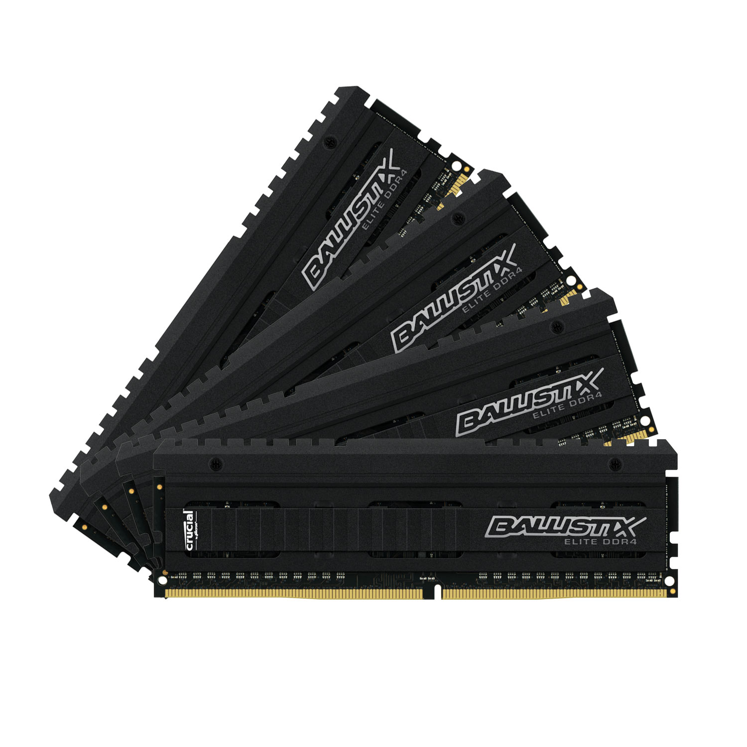 Mémoire PC Ballistix Elite 16 Go (4 x 4 Go) DDR4 3000 MHz CL15 Kit Quad Channel RAM DDR4 PC4-24000 - BLE4C4G4D30AEEA (garantie 10 ans par Crucial)