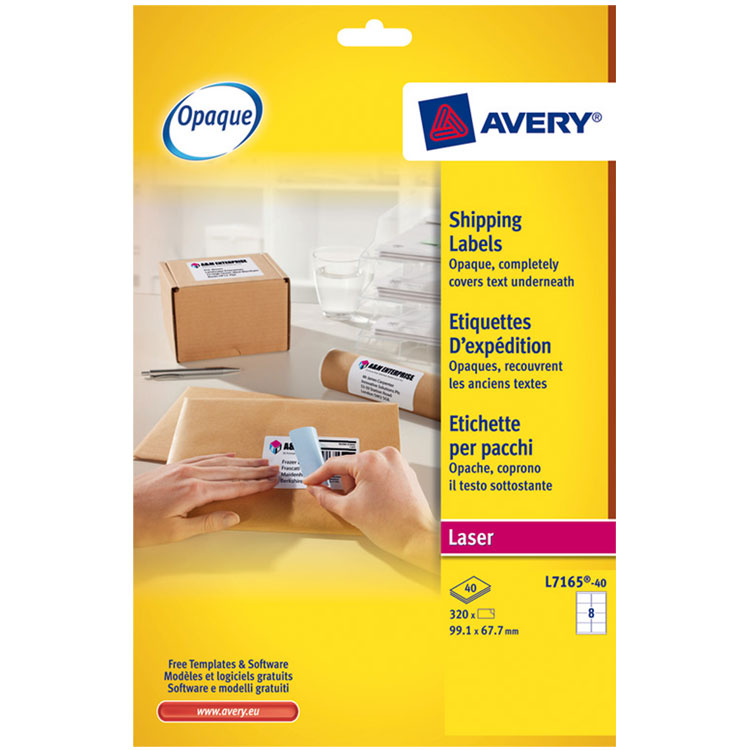 Avery etui de 320 tiquettes d 39 exp ditions 99 1 x 67 7 mm for 99 1 x 67 7 mm label template
