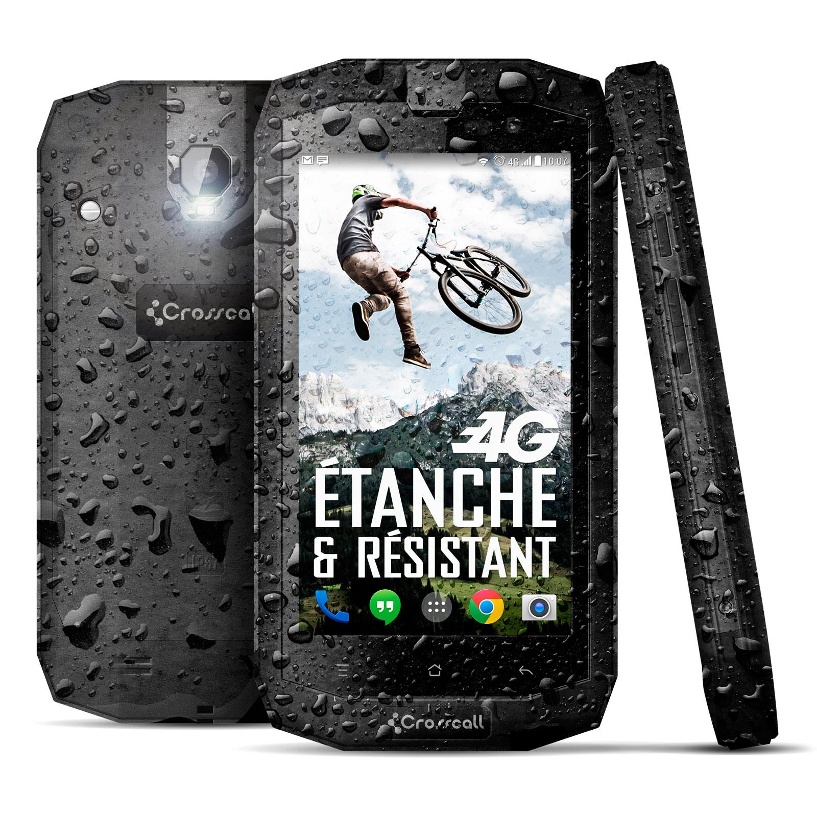 """Mobile & smartphone Crosscall Trekker-X1 Téléphone 4G-LTE waterproof certifié IP67 avec écran tactile 5"""" sous Android 4.4"""