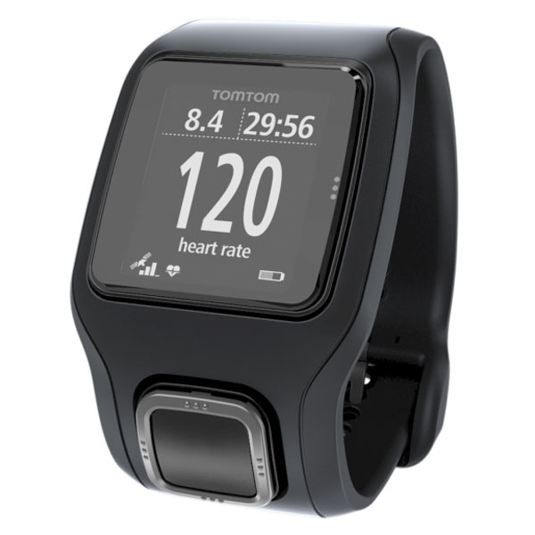 tomtom runner cardio noir noir montre running tomtom sur. Black Bedroom Furniture Sets. Home Design Ideas