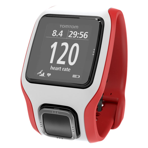 tomtom runner cardio blanc rouge montre running tomtom. Black Bedroom Furniture Sets. Home Design Ideas