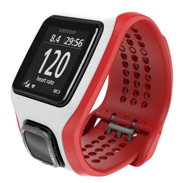 tomtom runner cardio blanc rouge montre running tomtom sur. Black Bedroom Furniture Sets. Home Design Ideas