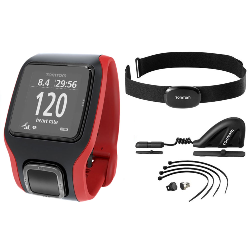 tomtom multi sport cardio rouge noir hrmc css am montre running tomtom sur. Black Bedroom Furniture Sets. Home Design Ideas