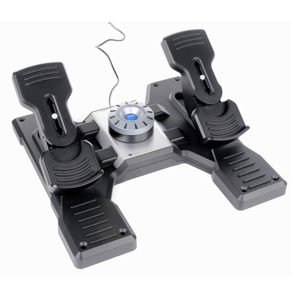 Joystick Logitech G Saitek Pro Flight Rudder Pedals Palonnier pour simulateur de vol