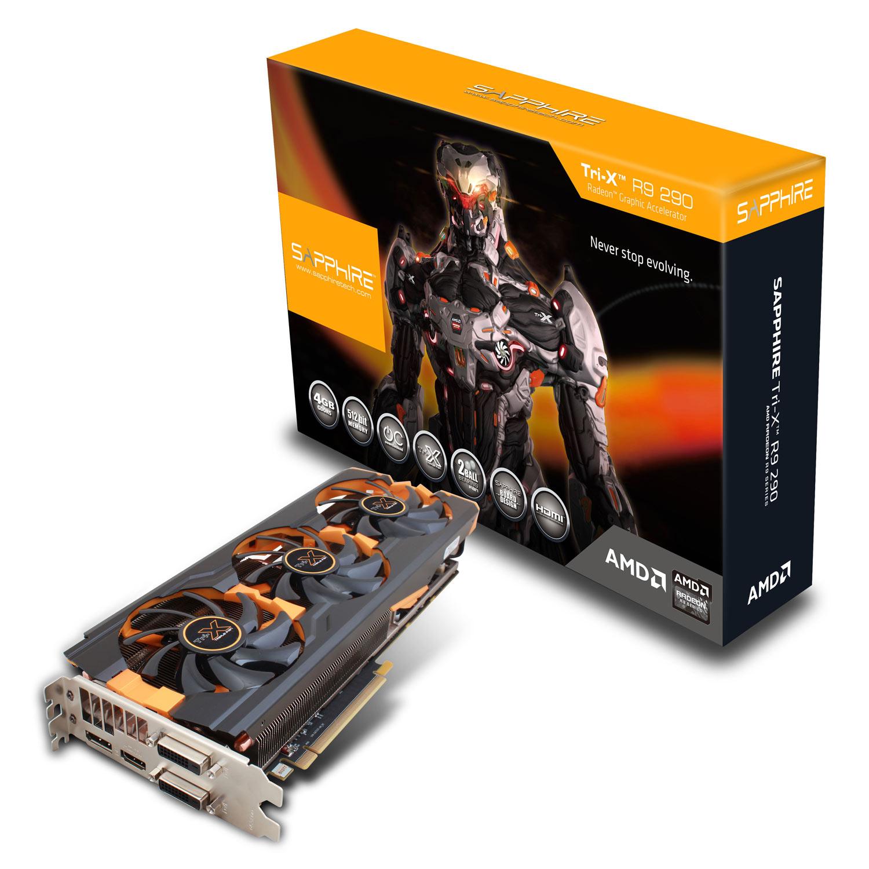 Carte graphique Sapphire Radeon R9 290 4G GDDR5 Tri-X OC (UEFI) - New Edition 4 Go Dual DVI/HDMI/DisplayPort - PCI Express (AMD Radeon R9 290)