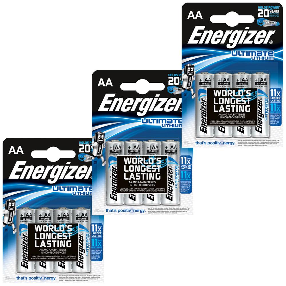 Pile & chargeur Energizer Ultimate Lithium AA (par 12) Pack de 12 piles AA (LR6) au lithium à très hautes performances