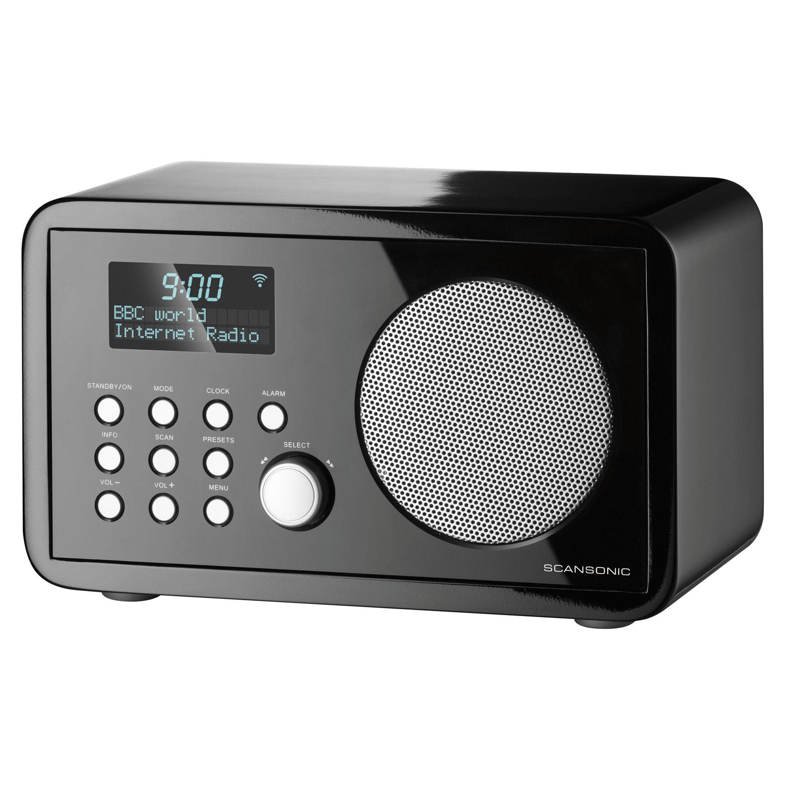 scansonic in210 noir radio radio r veil scansonic sur. Black Bedroom Furniture Sets. Home Design Ideas