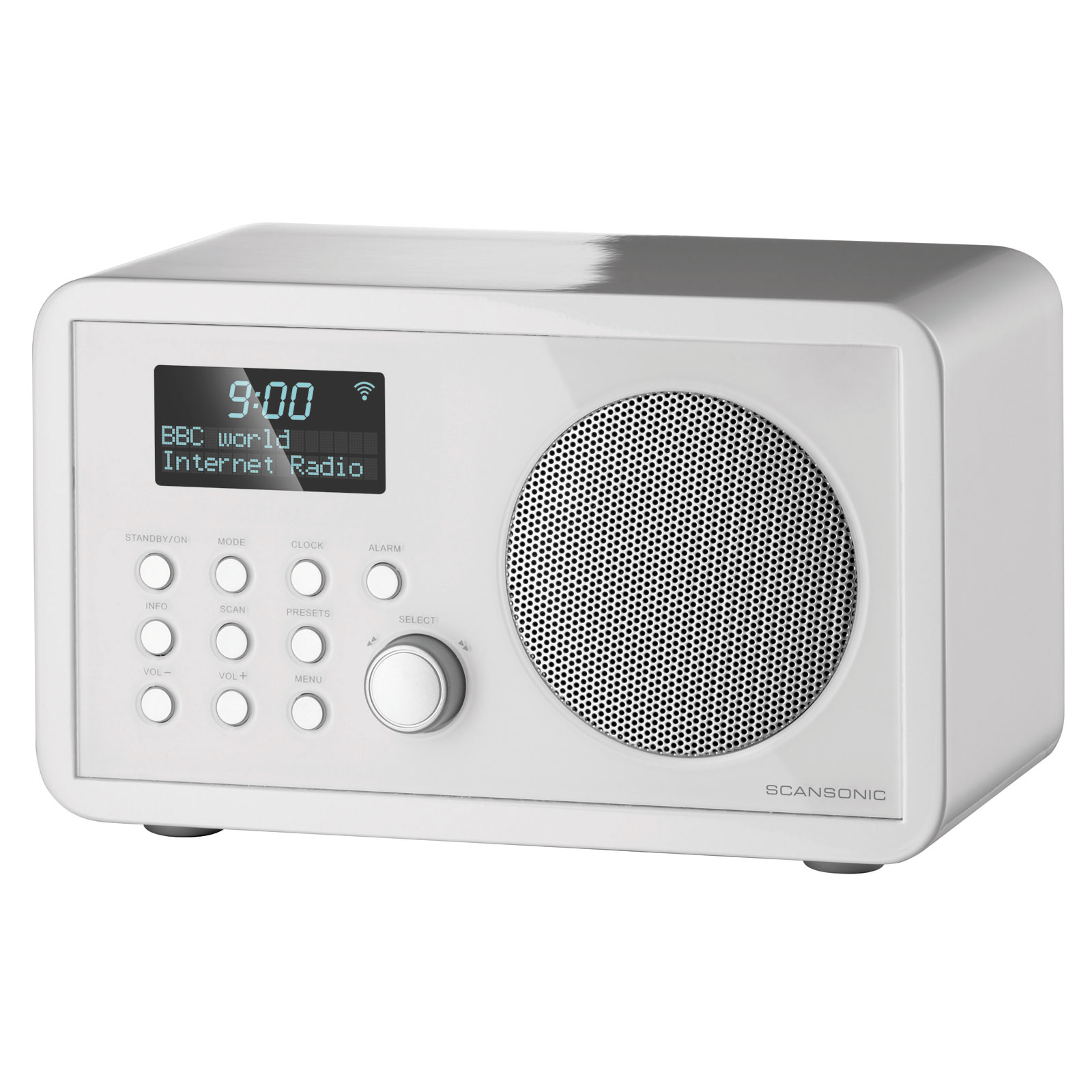 scansonic in210 blanc radio radio r veil scansonic sur. Black Bedroom Furniture Sets. Home Design Ideas