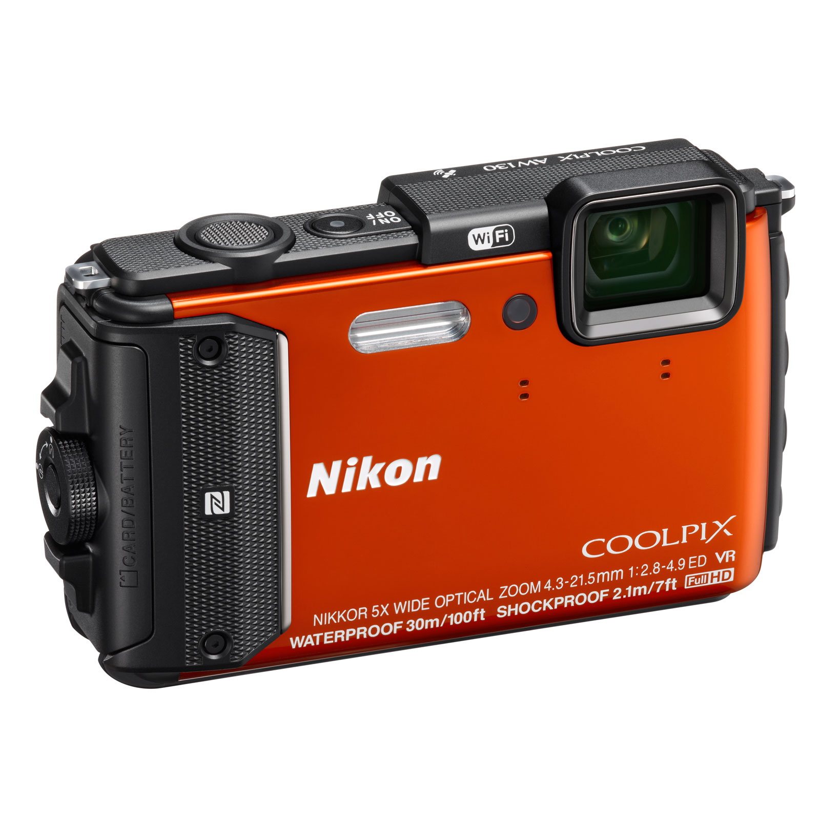 nikon coolpix aw130 orange appareil photo num rique nikon sur. Black Bedroom Furniture Sets. Home Design Ideas