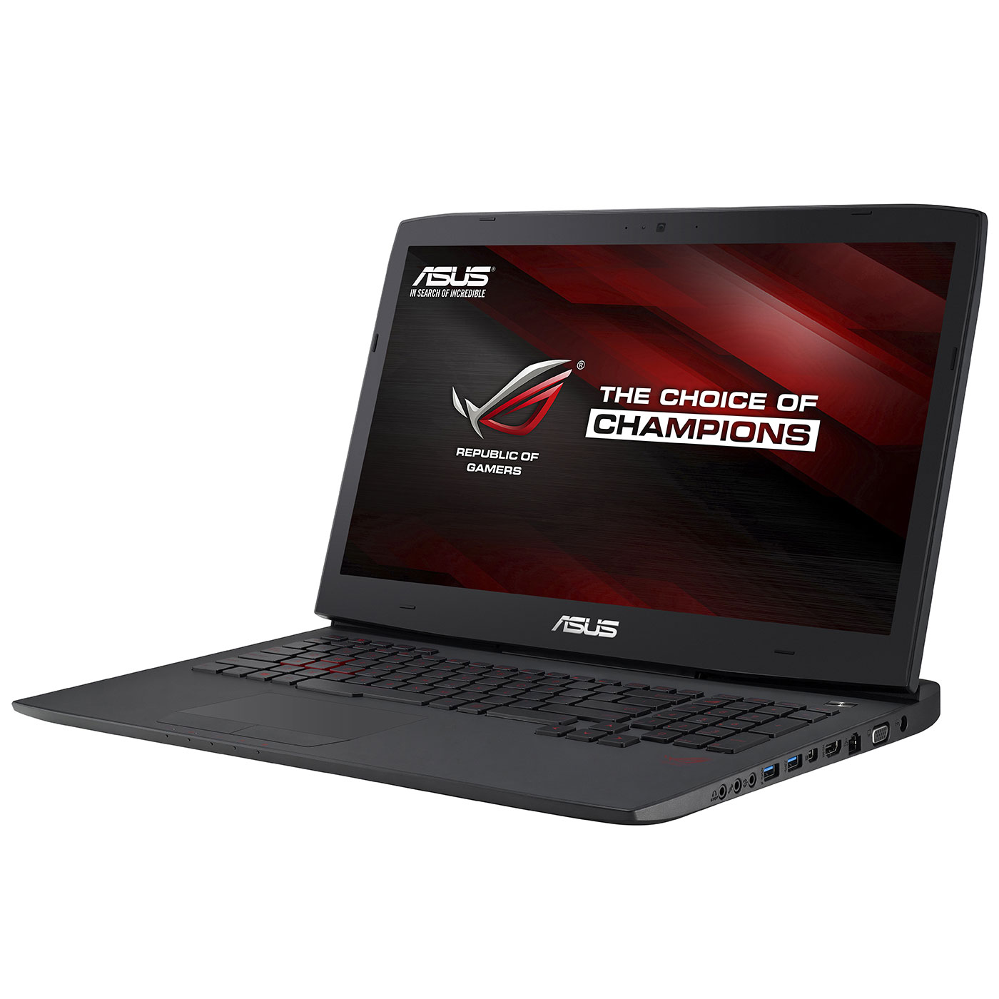 "PC portable ASUS G751JL-T7008H Intel Core i7-4720HQ 8 Go SSD 128 Go + HDD 1 To 17.3"" LED Full HD NVIDIA GeForce GTX 965M Graveur DVD Wi-Fi AC/Bluetooth Webcam Windows 8.1 64 bits (garantie constructeur 1 an)"