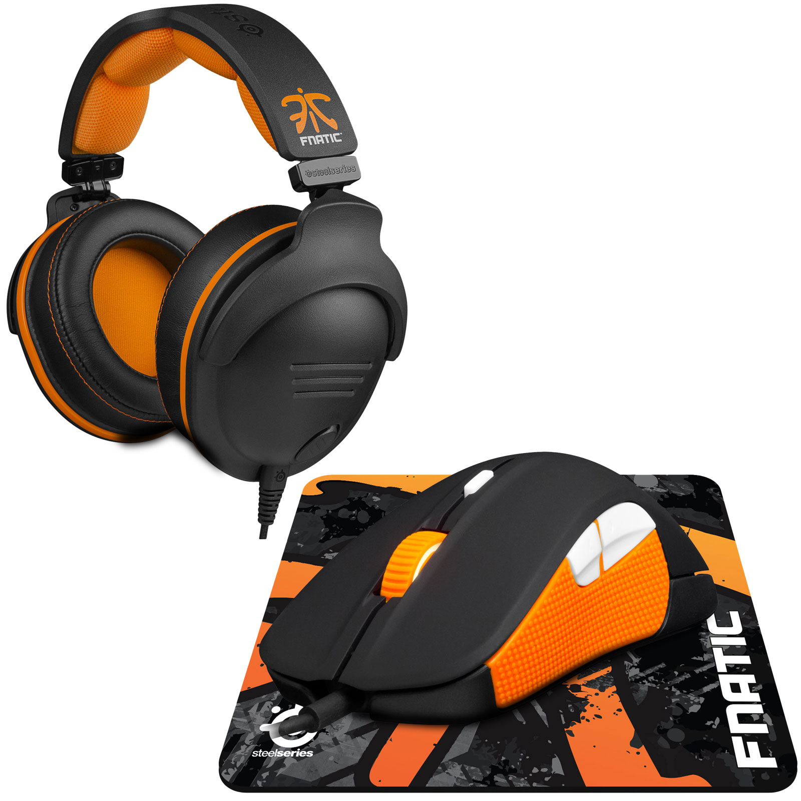 steelseries fnatic pro gaming pack micro casque gamer steelseries sur. Black Bedroom Furniture Sets. Home Design Ideas