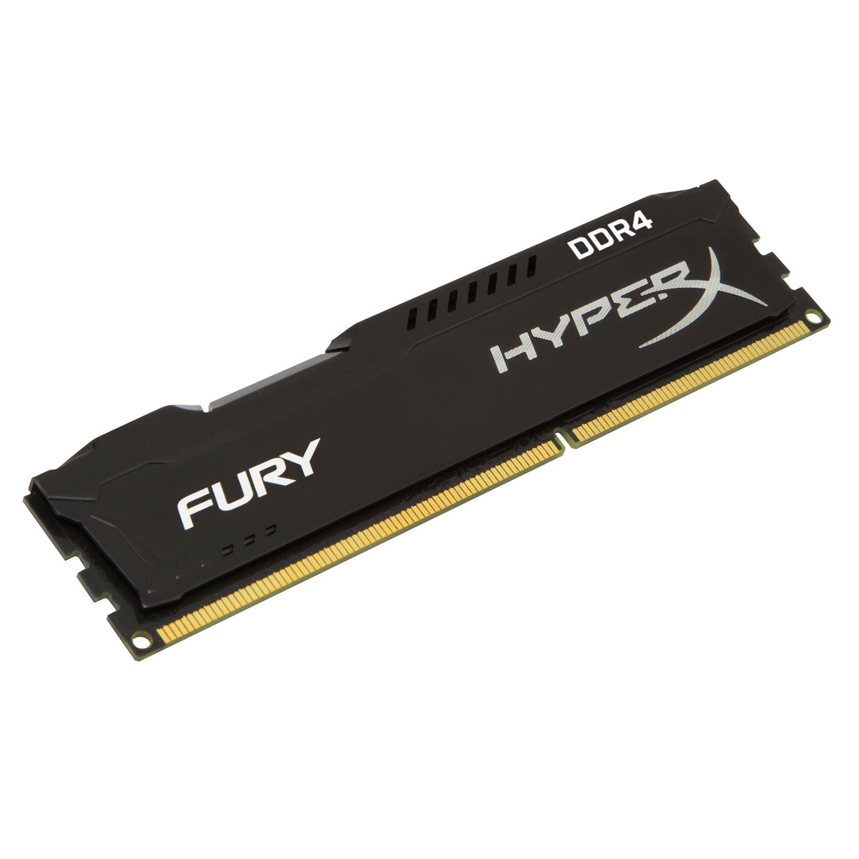 Mémoire PC HyperX Fury Noir 16 Go DDR4 2400 MHz CL15 RAM DDR4 PC4-19200 - HX424C15FB/16 (garantie 10 ans par Kingston)