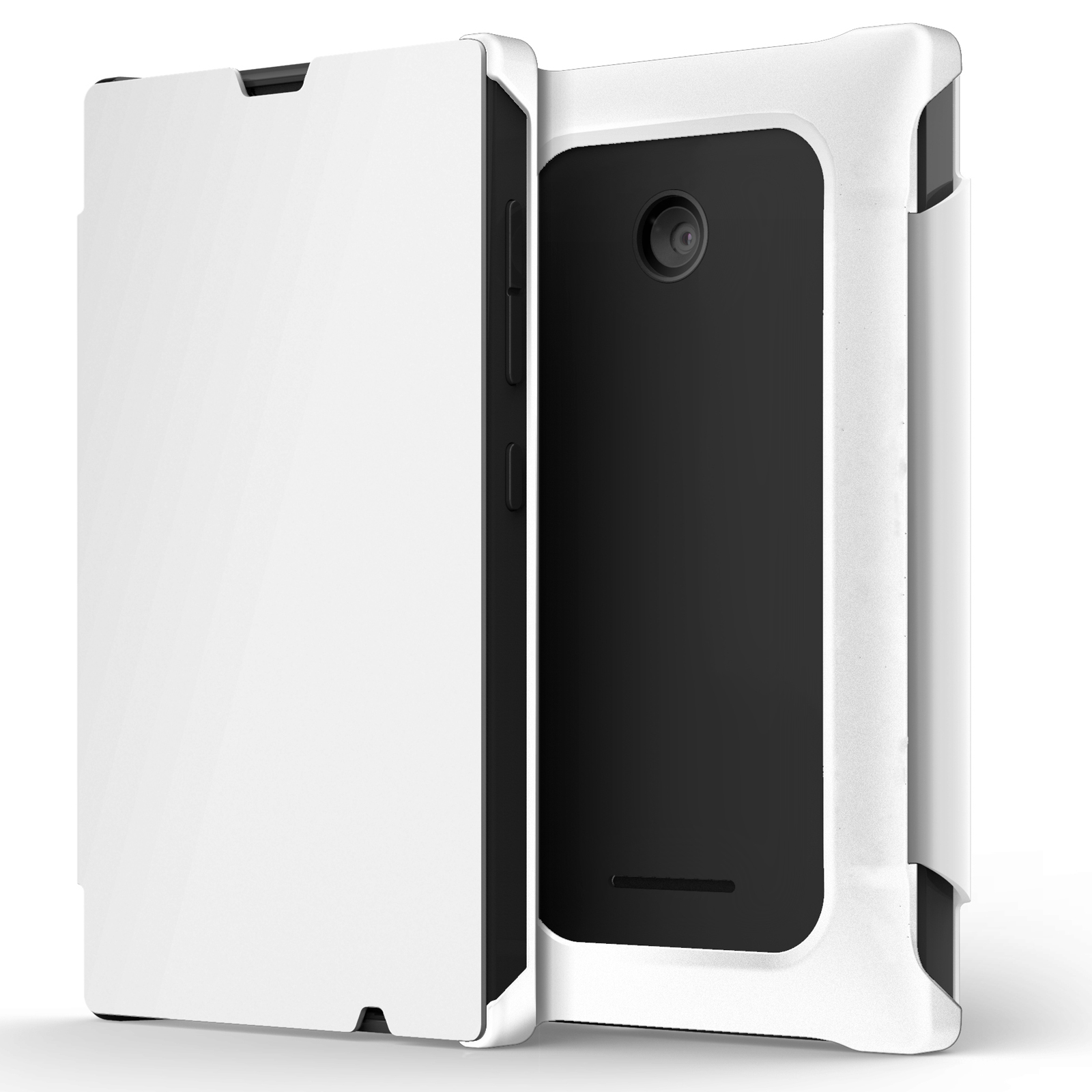 Mozo Works With Nokia Flip Cover Blanc Lumia 532 Etui Tlphone Folio Pour Microsoft