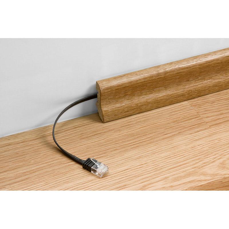 c ble rj45 plat cat gorie 6 u utp 10 m blanc c ble rj45 g n rique sur. Black Bedroom Furniture Sets. Home Design Ideas