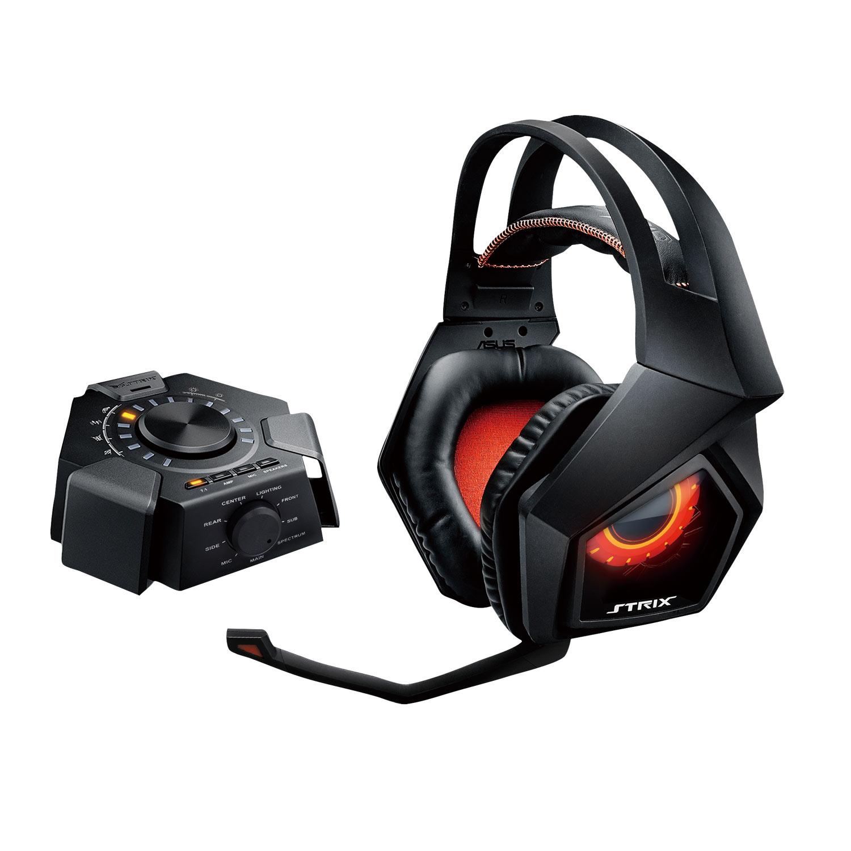 Micro-casque ASUS ROG Republic of Gamers Strix 7.1 Casque-micro 7.1 à réduction active de bruit pour gamer avec station audio USB (compatible PC / Mac)