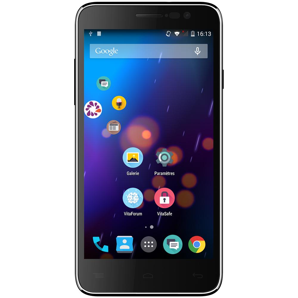 "Mobile & smartphone Vitamin Vitamin A Smartphone 4G-LTE Dual SIM avec écran tactile HD 5"" sous Android 4.4"