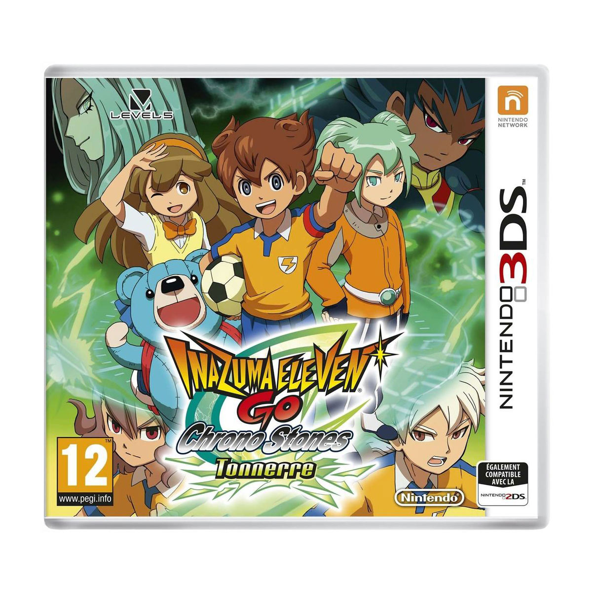 inazuma eleven go chronos stone tonnerre nintendo 3ds 2ds jeux nintendo 3ds nintendo sur. Black Bedroom Furniture Sets. Home Design Ideas