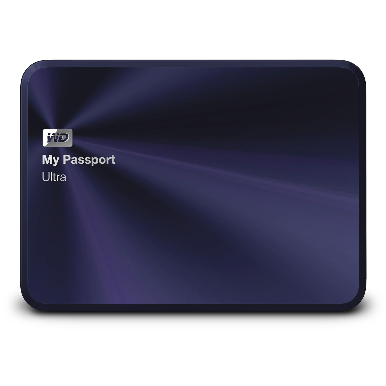 wd my passport ultra metal edition 1 to black blue disque dur externe western digital sur. Black Bedroom Furniture Sets. Home Design Ideas